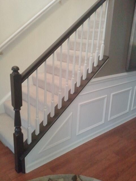 diy painted stairs