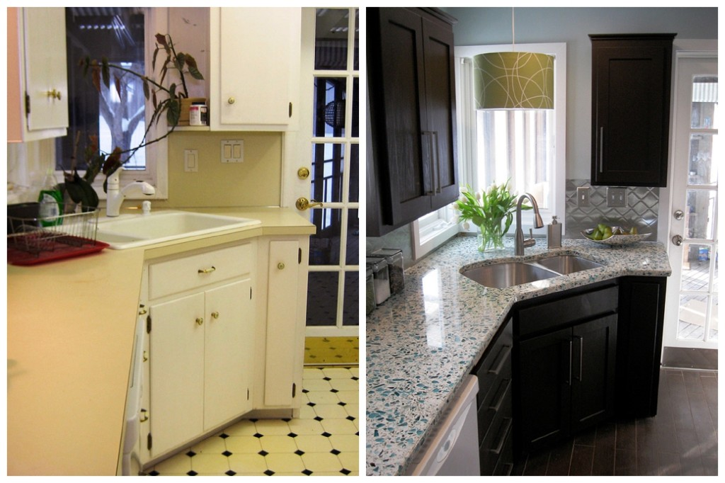 kitchen remodel before and after by DIY Network
