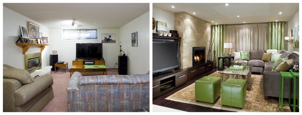 basement remodel by decorica