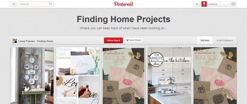 finding home projects pinterest board