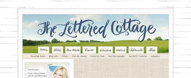 the lettered cottage blog screen shot