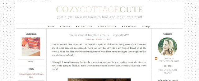 cozy cottage cute cottage blog screen shot