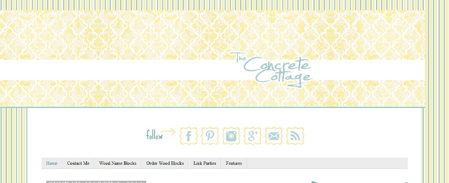 concrete cottage home blog screen shot