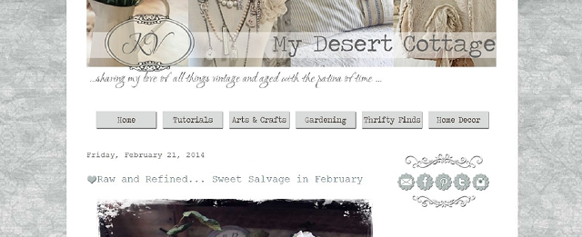 my desert cottage home blog screen shot