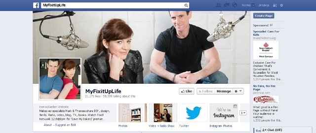 myfixituplife home improvement facebook page screen shot best facebook pages for home improvement