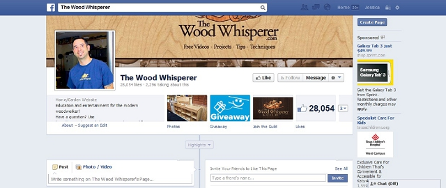 the wood whisperer facebook home improvement page screen shot best facebook pages for home improvement
