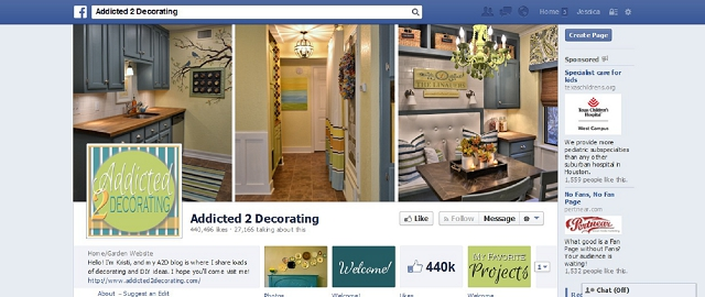 addicted 2 decorating home improvement facebook page screen shot best facebook pages for home improvement