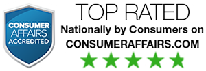 Top Rated | Nationally by Consumers on consumeraffairs.com