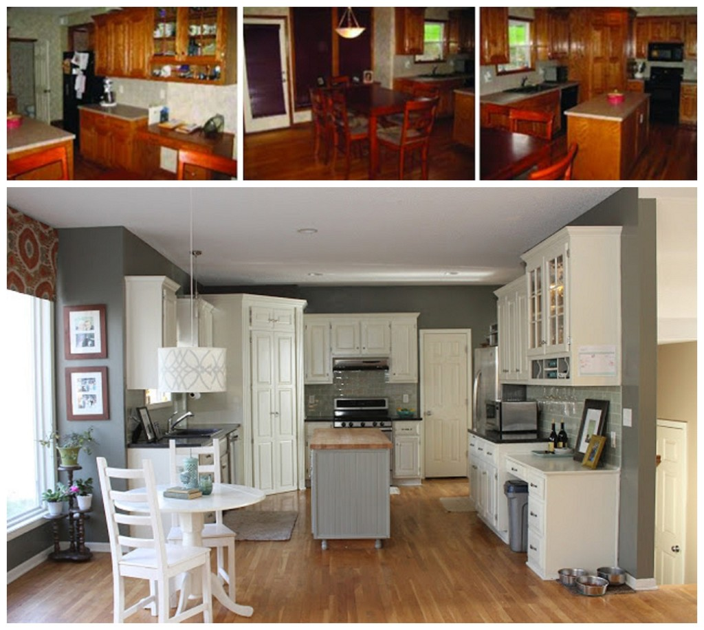 ranch style house remodel before and after home redesign $500 kitchen remodel oh so lovely