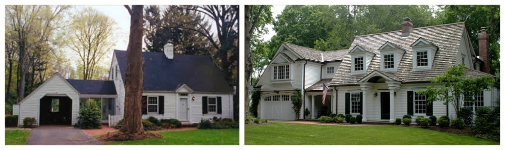 ranch style house remodel before and after home redesign Cape Cod remodel before and after