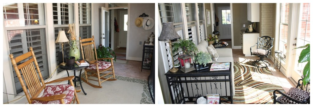 back porch remodel