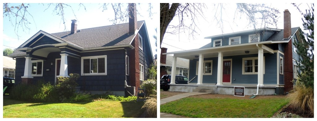 portland bungalow remodel - Before And After Home Remodel