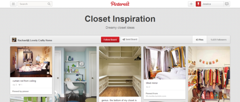 closet inspiration pinterest board