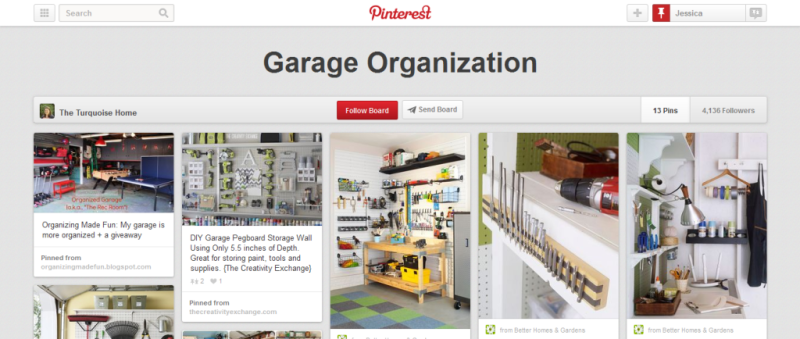 garage organization pinterest board