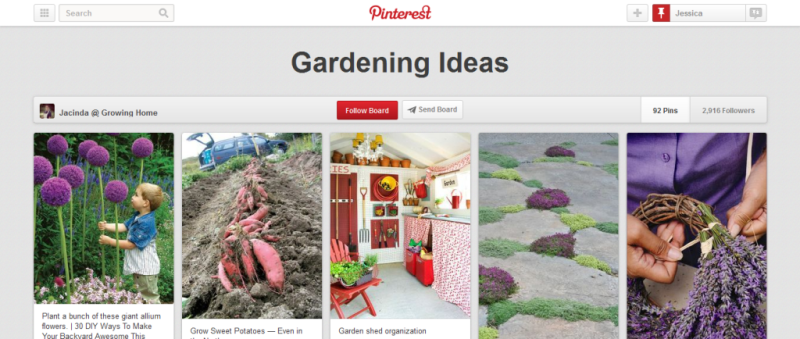 gardening ideas pinterest board