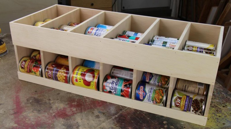 canned goods storage rack free plans