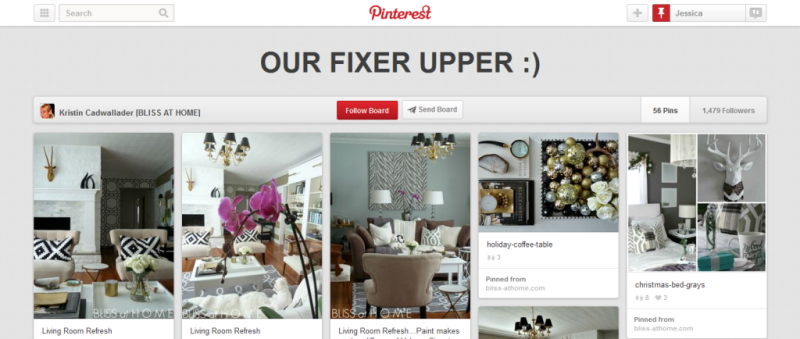 our fixer upper pinterest board