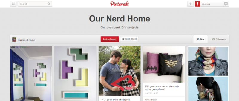 our nerd home pinterest board