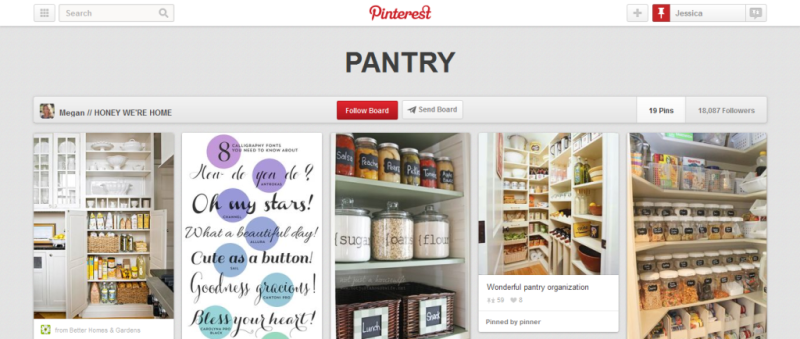 pantry organization pinterest board