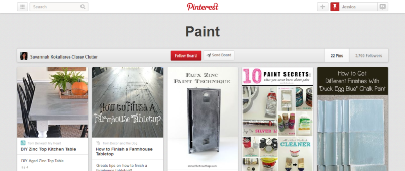 paint pinterest board
