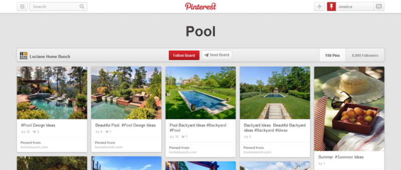 pool pinterest board