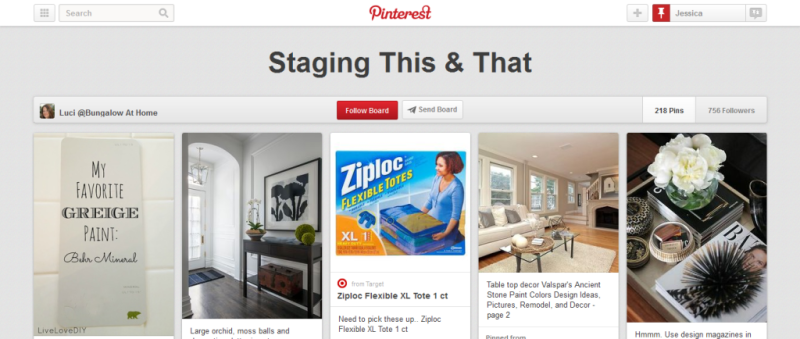 staging pinterest board