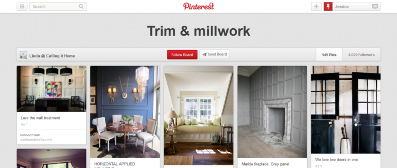 trim and millwork pinterest board
