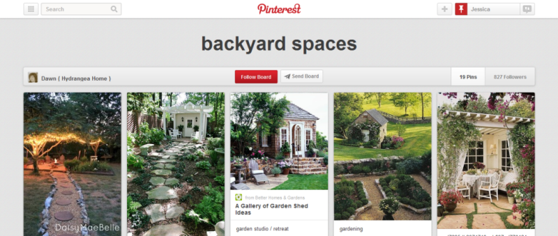 backyard spaces pinterest board