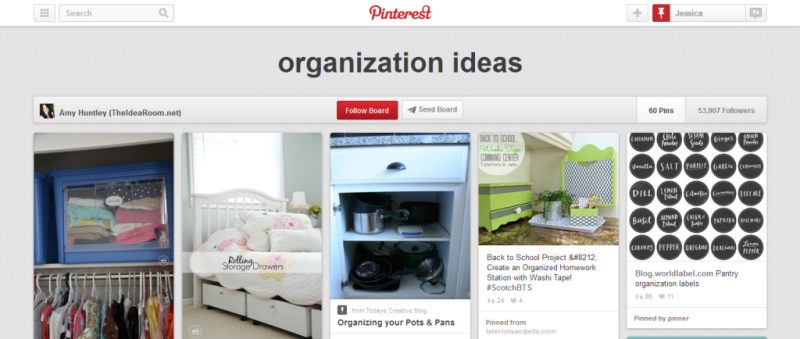 organization ideas pinterest board