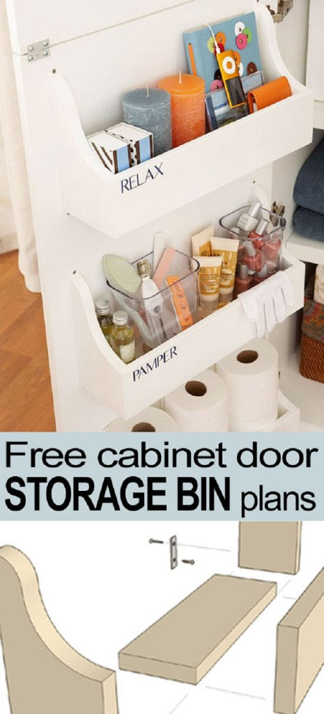 cabinet door storage free plans from remodelaholic