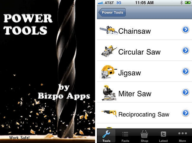 power tools home improvement app