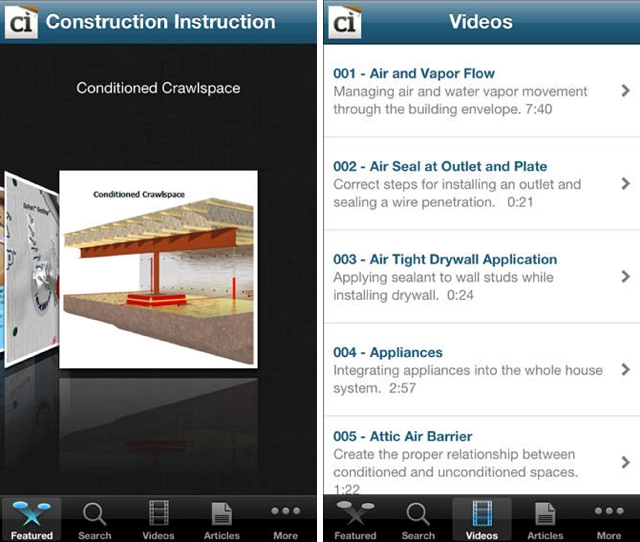 construction instruction home improvement app
