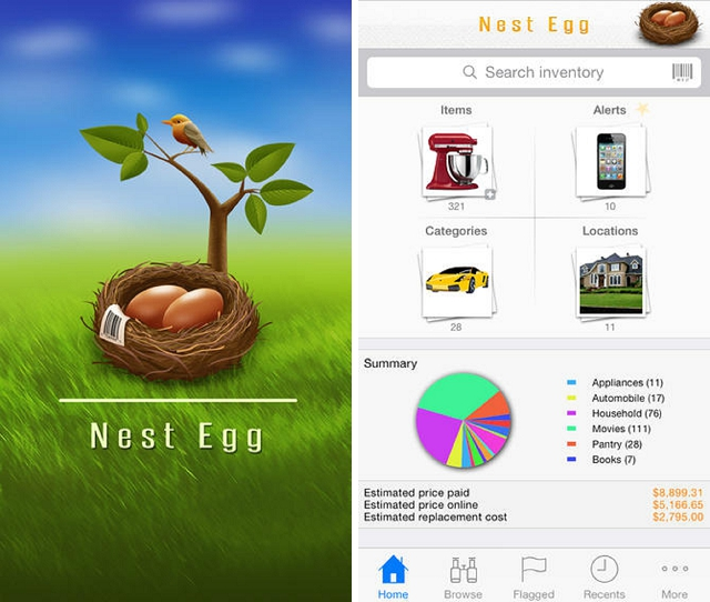 nest egg inventory home improvement app
