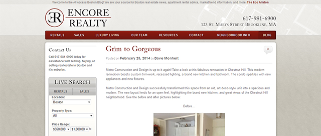 encore realty all access boston condo real estate blog