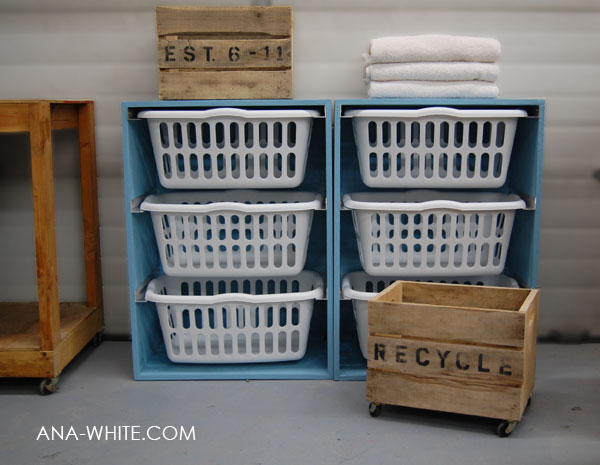 laundry basket dresser free plans