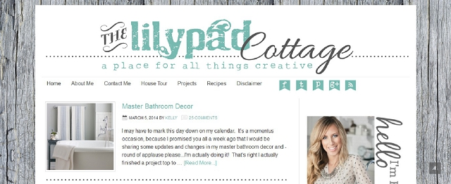 the lilypad cottage home blog screen shot