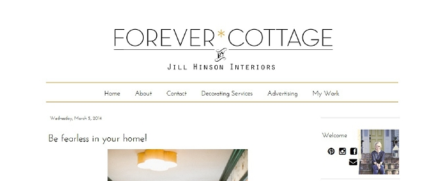 forever cottage home blog screen shot