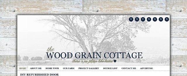 the wood grain cottage home blog screen shot