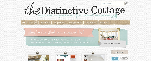 the distinctive cottage home blog screen shot