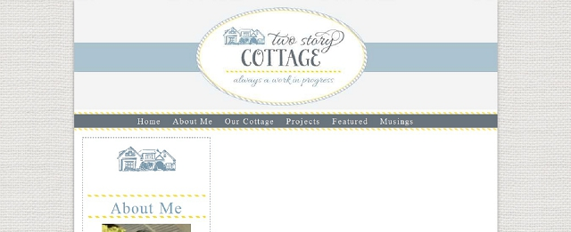 two story cottage home blog screen shot