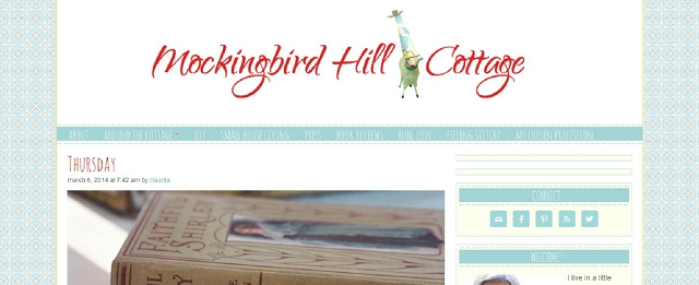 mockingbird hill cottage home blog screen shot