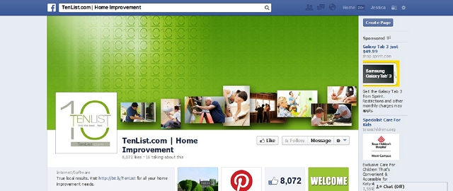 tenlist.com | home improvement facebook page best home improvement facebook pages