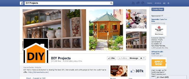 diy home hacks facebook page screen shot best facebook pages for home improvement