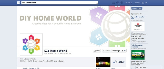 diy home world home improvement facebook page screen shot best facebook pages for home improvement