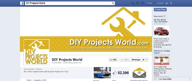 diy projects world home improvement facebook page screen shot best home improvement facebook pages