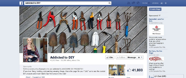 addicted to diy facebook home improvement page screen shot facebook home improvement pages