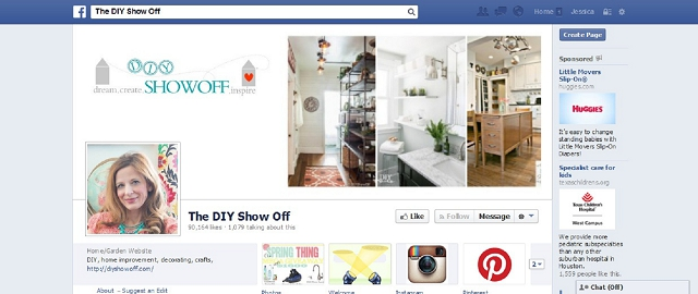 the diy show off home improvement facebook page screen shot facebook pages for home improvement