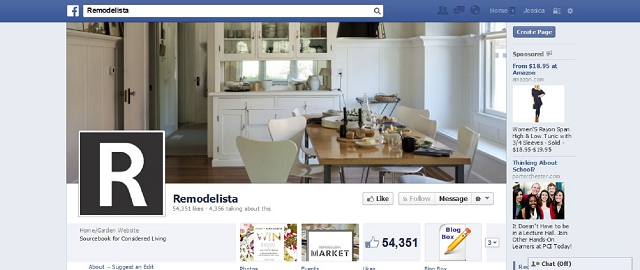 remodelista home improvement facebook page screen shot facebook pages for home improvement - Interior Design Pages