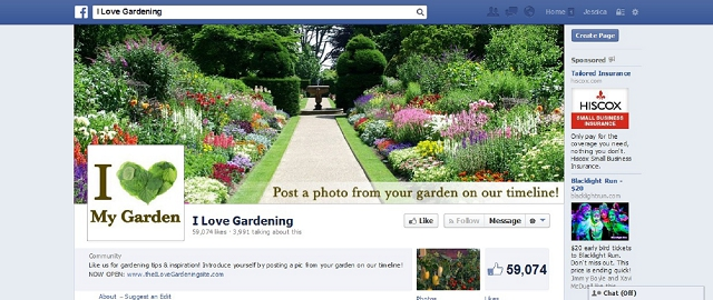i love gardening facebook home improvement page screen shot facebook pages for home improvement