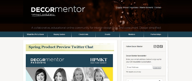 decor mentor blog screen shot interior design resources